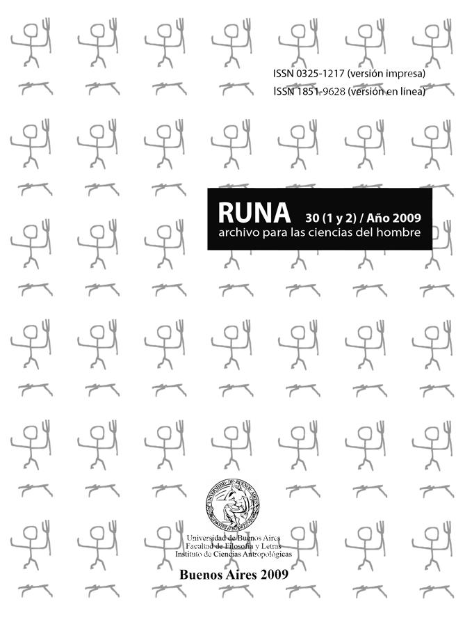 RUNA, archivo para las ciencias del hombre vol. 30(1)